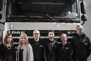 Team hos Hammarlings Lastvagnsservice i Uppsala